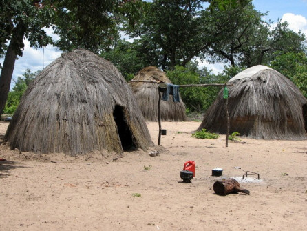 !San village is 100 yards from Nhoma Camp