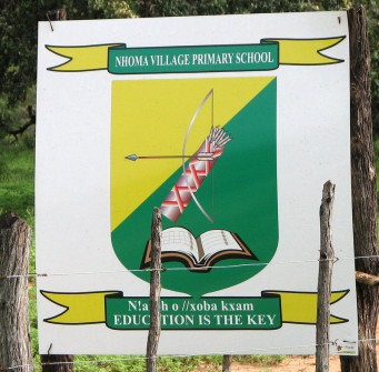 Nhoma school sign with motto