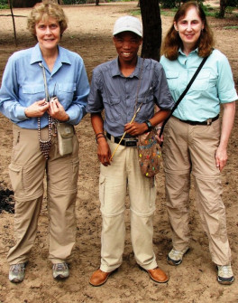 Carolyn & Wendy with local villager guide Albertus