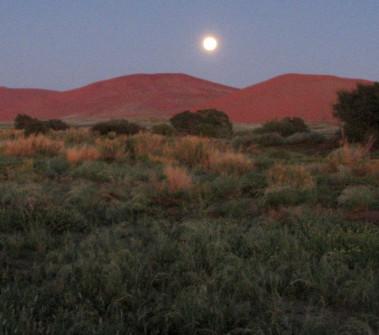Moonrise over Namib-Naukluft desert