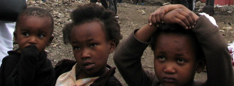 Cute children in Mukuru slum