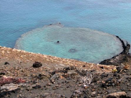 Clear caldera, Bartolome Island
