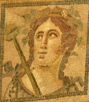 Restored mosaic wall, Ephesus, Turkey
