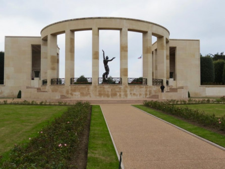 Entry to American Cemetery, Normandy Coast