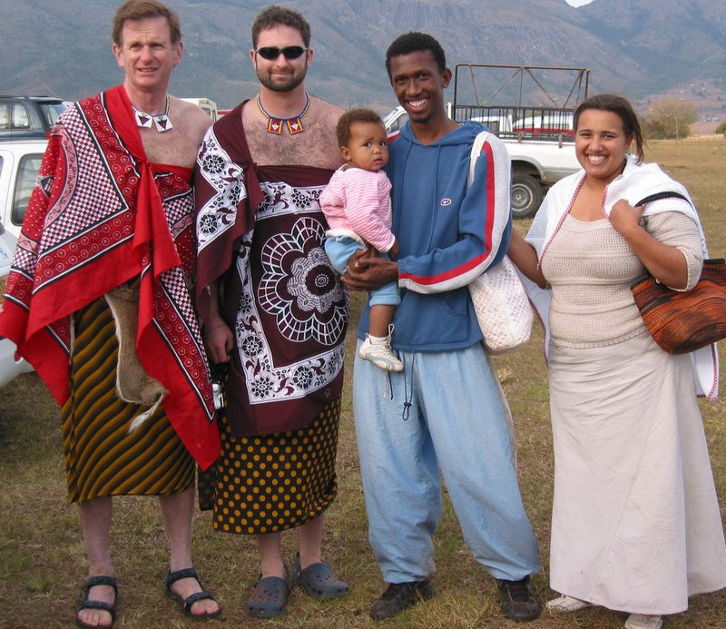Swazi culture annual reed dance umhlanga real wedding and tourist rick and adrian pose with our swazi friends mkulule daughter ayanza and wife katie thecheapjerseys Image collections