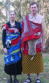 Wendy & Rick in Swazi dress before the Reed Dance