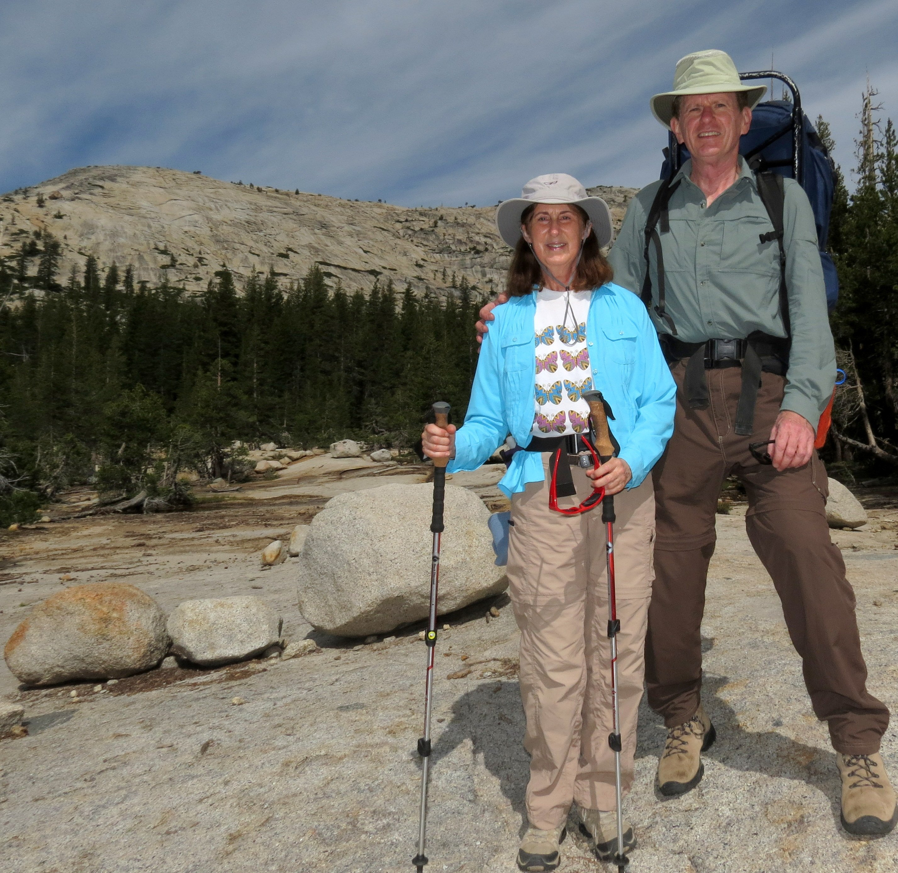 Hiking with Friends to Glen Aulin High Sierra Camp, Yosemite